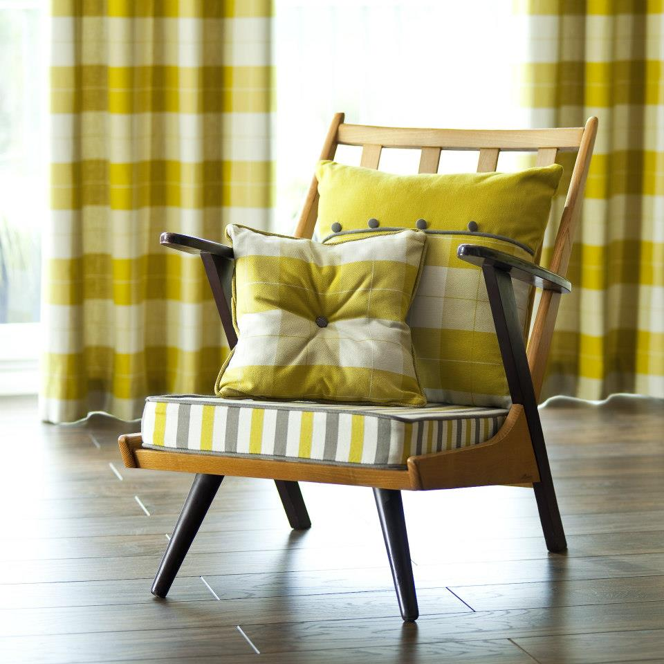 Upholstered Cushions with matching drapes