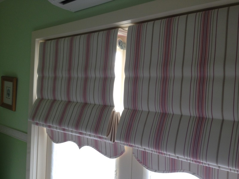 Previous Job - Fabric Roman Blinds