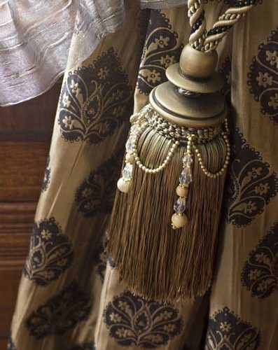 Tassel Tie Back with Beads