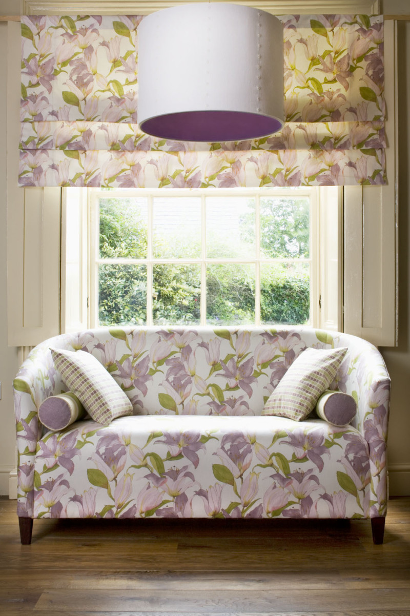2 Seater Couch with Matching Roman Blind