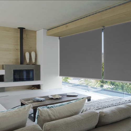Luxaflex QMotion Roller Blinds with Reverse Roll
