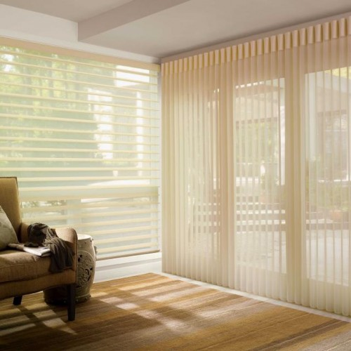 Luxaflex Luminette Shades and a Pirouette Blind